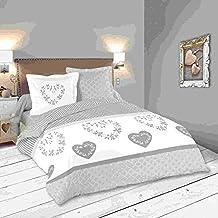 lovely casa manoir housse de couette 260 x 240 cm avec 2 taies doreiller - Parure De Lit 240x260