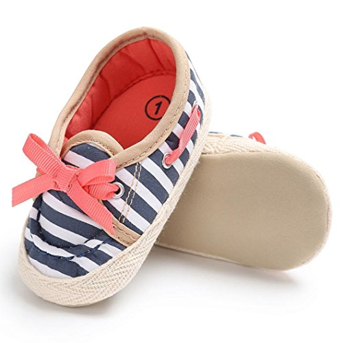 Igemy 1Paar Baby Kleinkind Niedliche Krippe Schuhe Slip Comfort Schuhe Loafers Soft Prewalker Anti-Rutsch Schuhe Blau
