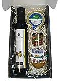Cesta de productos gourmet para Navidad con aceite de oliva virgen extra 250 ml en vidrio, crema de queso de...