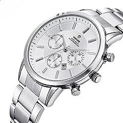 ufengke® casual waterproof wrist watch for men,luxury calendar watch,white,decorative small dials