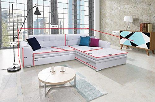 Couch Couchgarnitur Sofa Polsterecke SORENTO Wohnlandschaft Schlaffunktion - 2