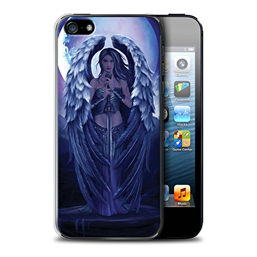 Officiel Elena Dudina Coque / Etui pour Apple iPhone SE / Épée Magique Design / Super Héroïne Collection Ange Gardien