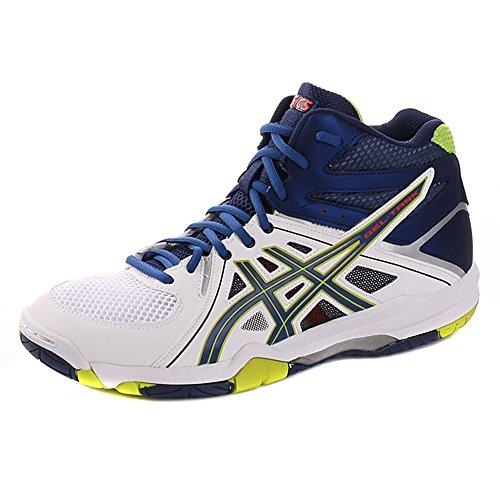 Asics Herren Gel-task Mt Volleyballschuhe Bianco / Blu / Lime