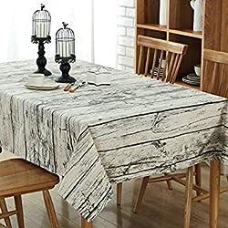 Manteles mesa rectangular - mantel antimanchas - vintage decoracion - G.G.G. Del Medio Ambiente conveniente para La Tabla de cena de la familia, Picnic Al Aire Libre, Tienda De Café, Restaurante Del Hotel(100X140CM)