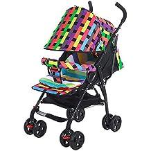 WSHFOR Kids Pram 3 en 1 / Stroller Travel System Manguito mosquitera, portabotellas/Almohadilla