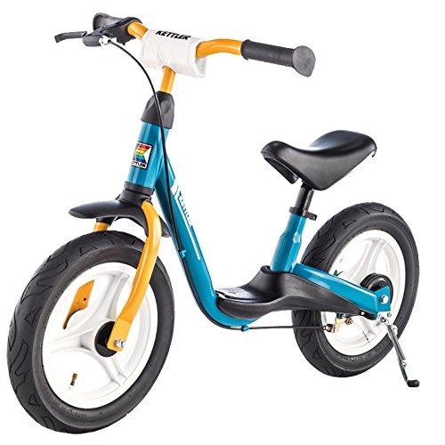 """Kettler Laufrad """"Spirit Air"""" – Reifengröße: 12,5 Zoll, ab 2 Jahren geeignet – Lauflernrad für Jungs und Mädchen – verstellbare Höhe – Farbe: Blau und Gelb"""