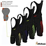 New Mens Cycling Bib Shorts Padded Pants Bicycle Trousers Skin Fit Bike Leggings - Red Green Blue Yellow