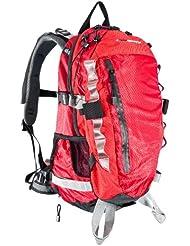 Ultrasport 380100000004 - Mochila de senderismo con funda impermeable, 35 litros, color rojo