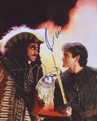 Hook - Dustin Hoffman & Robin Williams Autogramme Signiert 21cm x 29.7cm Foto Plakat -