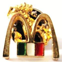 Mc Donalds - Italien - Logo & Flagge - Pin 16 x 15 mm