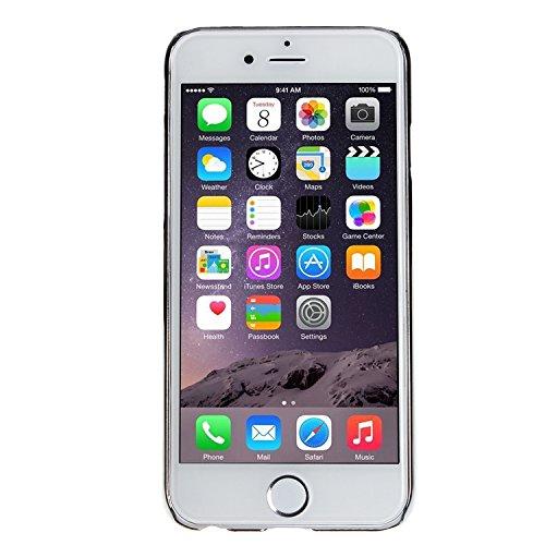 wortek Crystal Case farbig Nummer 6 Schutzhülle kristallklar durchsichtig Apple iPhone 6 (4,7 Zoll) Transparent Pink Silber