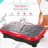 ANCHEER Vibrationsplatte Fitness Home Vibrationsgerät Profi Vibration Plate inkl. Trainingsbänder, Fernbedienung, LCD Display, 180 Verschiedene Geschwindigkeitsstufen (Rot)