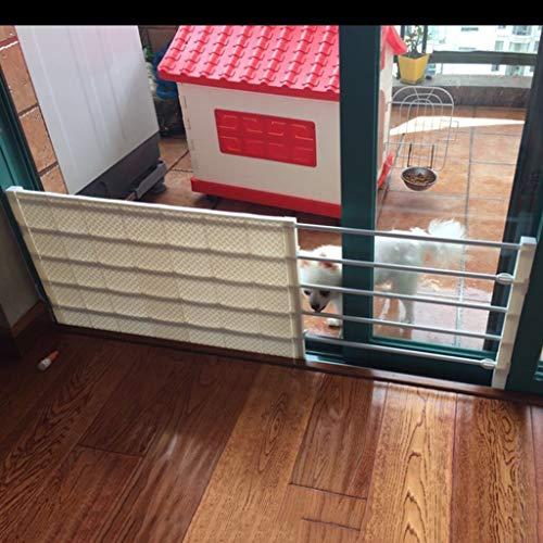 Barrière de sécurité Extra Large Enfant Porte Pet Gate pour Chiens Chats Bébé Barrière pour Les Portes des Portes Escalier Couloir 53-130cm Large Indoor Gates De Sécurité Jaune