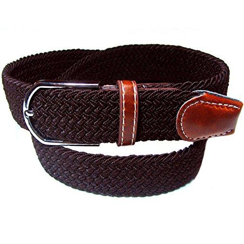 Skyeye 1 Stück Gesponnener Gurt, elastischer elastischer Segeltuchgurt der Männer Dornschließe, dünnerer Hosengürtel der Männer (A)