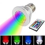 dingdangbell E273W 16Farbe LED RGB Magic Spot Lampe Kabellose Fernbedienung