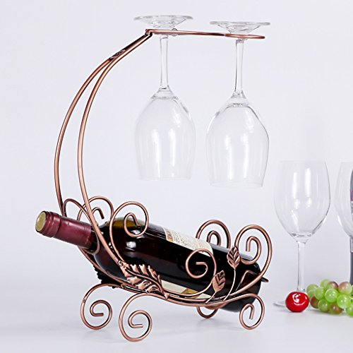 Kreative Rotwein Rack Upside Down Rotwein Glas Regal Europäische Weinregal Ornamente Display Racks ( Color : Bronze ) (Stehen Banane Baum)