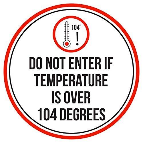 Maureen52Dorothy Geben Sie Nicht Wenn über 104Grad Pool Spa Warnschilder Sticker Funny gewerblichen Safety Signs Aufkleber Rund Vinyl Hinweis Schild Aufkleber 22,9x 22,9cm