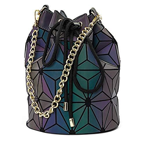 031cad5f249ee Women GeometricLattice Holographic Handbag Fashion Womens Purse Borsa tipo  Tote PortamonWomen GeometricLattice Hoete e tracolla a