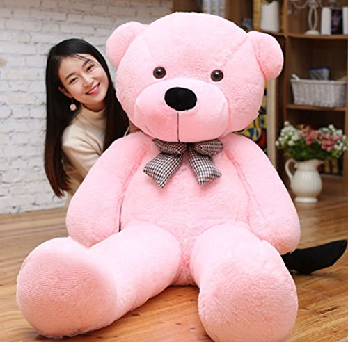 B-kreativer großer Teddybären-Riese Teddy trägt große Weiche Plüsch-Spielzeug Kids Stock Pink 60cm (Baby Stock-spielzeug Boy)