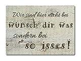 LUXECARDS Interluxe Postkarte aus Holz Wir sind Hier Nicht bei wünsch dir was, sondern so iss'es Karte Spruchkarte
