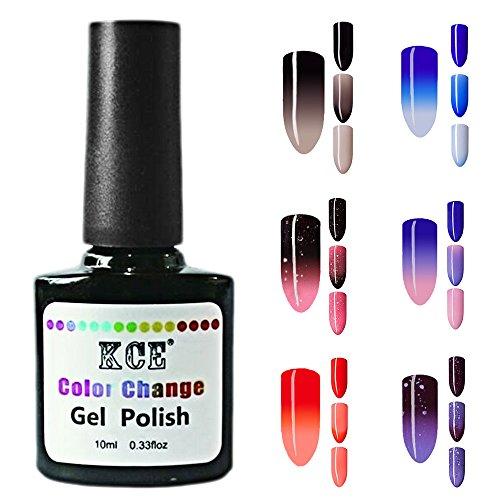 6 PCs 6 couleur arrangement 10 ml mode changement de couleur vernis à ongles température caméléon vernis à ongles Gel Nail art fournitures