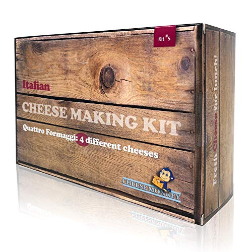 Cheese making kit. Italian: mascarpone, mozzarella, ricotta, burrata includes thermometer and cheese mould