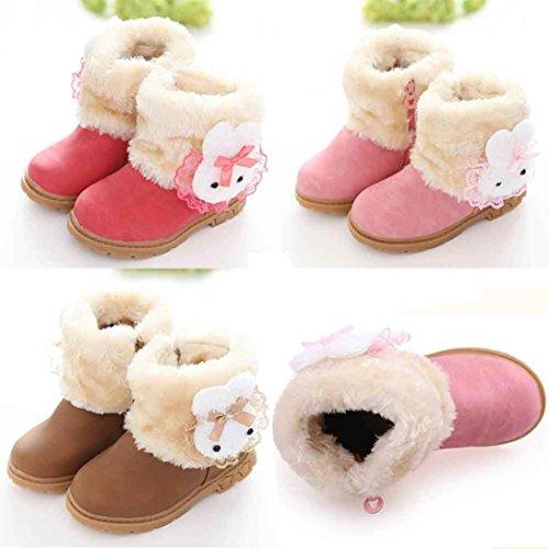 BZLine® Mädchen Schneestiefel niedlichen Kaninchen Winter Baby Kind Baumwolle Stiefel Gelb