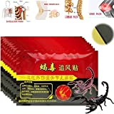 'TYRO 80/10Staubbeutel Kniegelenk, schmerzlindernde Patch Chinesische Scorpion Venom Extrakt Pflaster für Körper rheumatischer Arthritis Schmerzlinderung