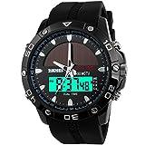 SKMEI Groupstars Solarbetriebene Herren-Armbanduhr, wasserdicht beim Tauchen bis zu 5ATM, analog, digital, für Sport, Outdoor-Aktivitäten, Militär