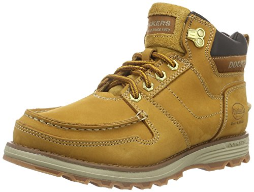 Dockers by Gerli 39TI007-302910 - Botas de Senderismo Pare Hombre, Color Amarillo (Golden Tan 910), Talla 42 EU