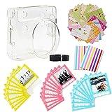 Jxe 7en 1Bundle Kit Accessoires pour Fujifilm Instax carré Sq6Camera–Lot de Coque de Protection Transparente, Sangle, Autocollant Boarder, Coin Autocollant, Dentelle Sacs