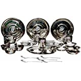 Mayur Stainless Steel Dinner Set (30 Pcs.)