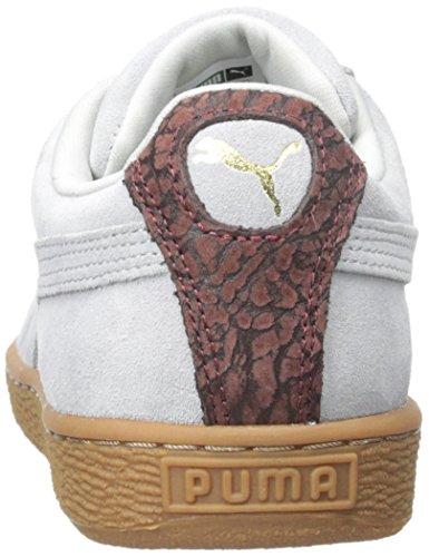 Puma Suede Classic beiläufige Art und Weise Turnschuhe Glacier Gray/Oxblood