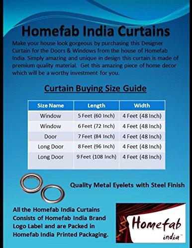 Homefab India's Set of 2 Royal Silky Cream Long Door Curtains(HF042) 8X4ft.