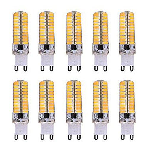 Ampoules, Ampoules domestiques, Dimmable G9 / E14 / G4 / BA15D 5W 80 SMD 5730 350 LM blanc chaud / Cool White LED Ampoule à grains AC200-240V 10Pcs Ampoules ( Couleur : Blanc Neige , Forme : G9 )