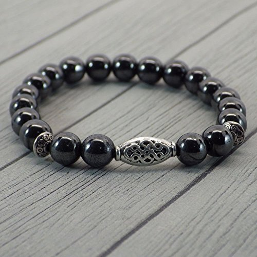 ethnic-thurcolas-bracelet-zen-with-pearls-in-hematite-and-tibetan-silver-plated-beads