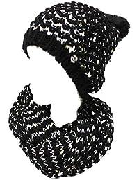 GIANMARCO VENTURI Sciarpa e cappello donna acrilico e lurex in box 61952  nero aae3c716d37e
