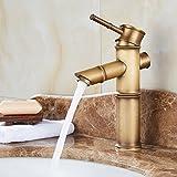 Küche oder Badezimmer Waschbecken Mischbatterie das Kupfer Plus Hohe antiken Tisch Becken einzelnen Hebel Einlochmontage massiv Messing Wasser S Kalte Wasser zu Hause drei Abschnitte tippen Sie auf die