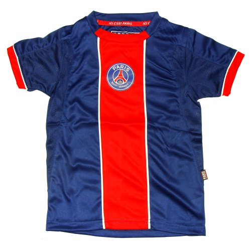 PSG - Maillot de Football Enfant PSG Officiel - Bleu, Rouge