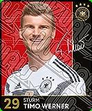 WIZUALS Rewe 2018 WM DFB Russland Auswahl Glitzer Einzelkarten Sammelkarten Komplettset (Normale Karte Nummer 29 Timo Werner)