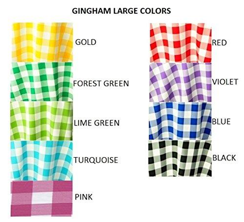 royaltablecloths Check Gingham Polyester Tischdecke und Servietten, 9Farben, oval, runde RCT SQ, 100% Polyester, rose, 58