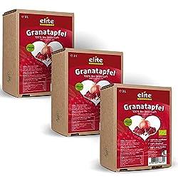 3 x 3 Liter Bio Granatapfel Direktsaft (Muttersaft) von Elite Naturel, Bio Granatapfelsaft in der Box, Neue Ernte 2018/2019