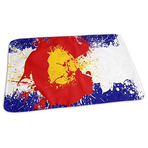 Kotdeqay Premium Wickelauflagen für Babywindelfor Infant Colorado Flag Paint Splatter Portable Urine Pads Sanitary Mats Great for Travel/Stroller/Bed/Car -