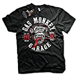 Gas Monkey Garage Officially Licensed - Round Seal T-Shirt Camiseta T Shirt GMG...