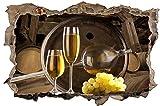 Weintrauben Wein Fass Weinglas Wandtattoo Wandsticker Wandaufkleber D0481 Größe 70 cm x 110 cm