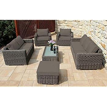 Baidani Gartenmöbel Sets 10a00002 Designer Lounge Garnitur Escape, 3 Er Sofa