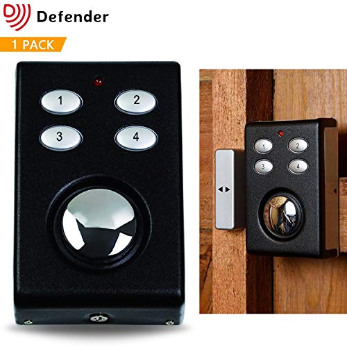 Defender Wireless Shed Alarm - Garage Alarm - Burglar Alarm for Sheds Garages - Wireless Alarm For Doors - Alarm With Keypad