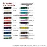 Creativgravur Aluminium - Kugelschreiber Cosmo Lasergravur Sortenrein o. Gemischt Einheitl. Gravur 26 Farben + Schlüsselanhänger, Menge:100 Stück