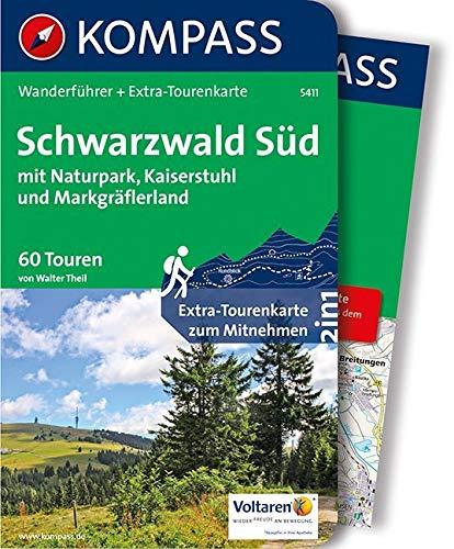 Schwarzwald Süd mit Naturpark, Kaiserstuhl und Markgräflerland: Wanderführer mit Extra-Tourenkarte 1:75.000, 60 Touren, GPX-Daten zum Download. (KOMPASS-Wanderführer, Band 5411)
