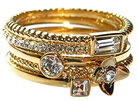 Ah! Jewellery Stack 'Em Up! Set of 5 rings. Gold Filled Fashion Rings. Very Pretty and Elegant